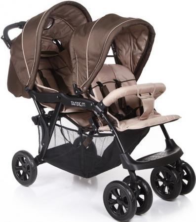 Коляска для двойни Baby Care Tandem (brown/grey) коляска baby care baby care коляска для двойни tandem brown grey