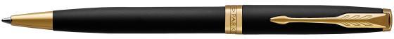Шариковая ручка поворотная Parker Sonnet Core K528 Matte Black GT черный M 1931519 тонкая шариковая ручка parker essential sonnet matte black gt