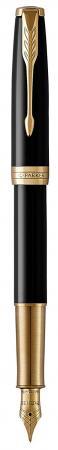 Перьевая ручка Parker Sonnet Core F53 LaqBlack GT черный F 1931527 роллер parker sonnet core t530 laqblack gt mblue 1948080