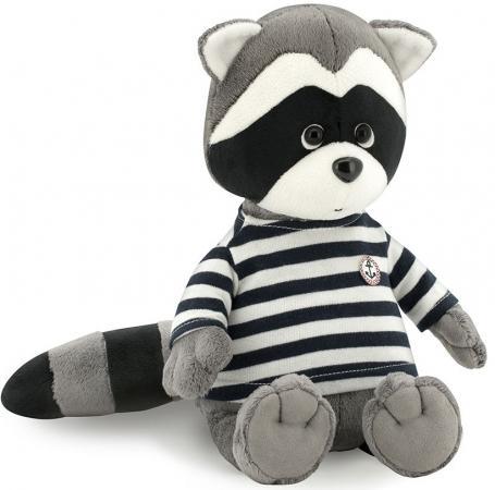 Фото - Мягкая игрушка енот ORANGE Дэнни в тельняшке 30 см серый искусственный мех текстиль OS615/30 игрушка мягкая orange енотик дэнни якорь 25см