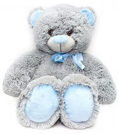 """Мягкая игрушка медведь FANCY """"Медведь Сержик"""" 65 см серый плюш пластик текстиль мягкая игрушка fancy медведь сержик"""