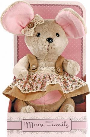 "Мягкая игрушка мышка Fluffy Family Country mouse ""Миндалька"" 25 см бежевый плюш текстиль 681207 мягкая игрушка мышка fluffy family lady mouse"