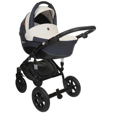 Коляска 2-в-1 Tutek Tirso ECO (цвет ntre2/синий-белый/шасси black) коляска детская tutek timer 2 в 1