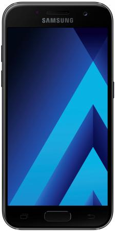Смартфон Samsung Galaxy A7 Duos 2017 черный 5.7 32 Гб NFC LTE Wi-Fi GPS 3G SM-A720FZKDSER 10pcs lot 25mm diameter nfc sticker ntag213 203 smart tags for samsung galaxy and sony all nfc phones compatible