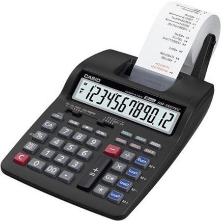 Калькулятор бухгалтерский CASIO HR-150RCE-WA-EC 12-разрядный черный 99673 калькулятор casio dj 120d plus 12 разрядный черный