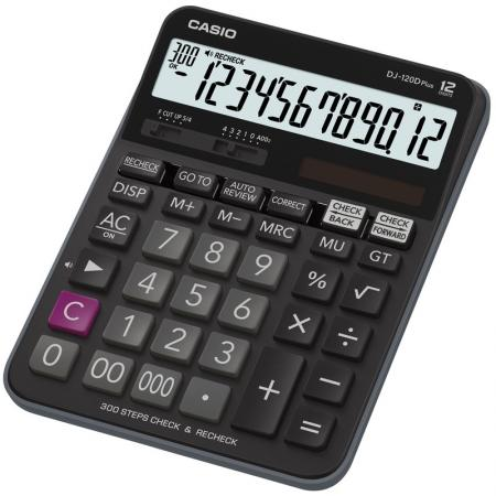 Калькулятор настольный CASIO DJ-120D Plus 12-разрядный калькулятор casio fx 85es plus 12 разрядный черный