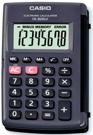 Калькулятор карманный CASIO HL-820LV 8-разрядный teka hl 820