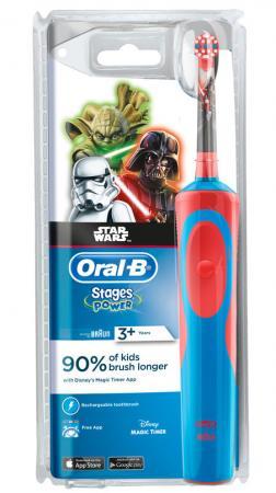 Зубная щётка Braun Oral-B StagesPower StarWars красный/синий
