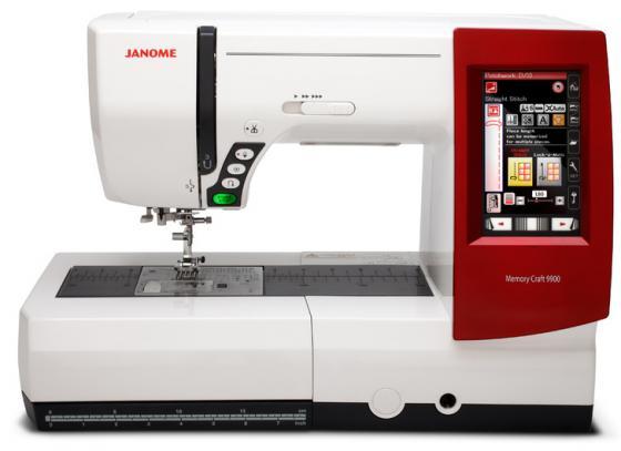 Швейная машина Janome Memory Craft 9900 белый/красный janome memory craft 5200