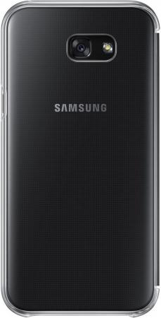 все цены на Чехол Samsung EF-ZA720CBEGRU для Samsung Galaxy A7 2017 Clear View Cover черный прозрачный онлайн