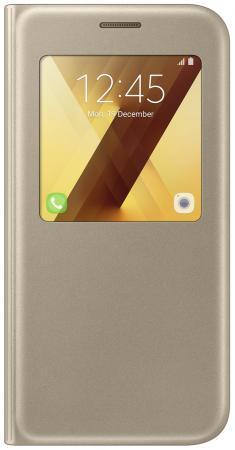 Чехол Samsung EF-CA520PFEGRU для Samsung Galaxy A5 2017 S View Standing Cover золотистый стоимость