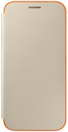 все цены на Чехол Samsung EF-FA520PFEGRU для Samsung Galaxy A5 2017 Neon Flip Cover золотистый онлайн