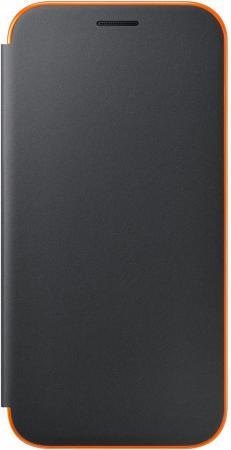 Чехол Samsung EF-FA520PBEGRU для Samsung Galaxy A5 2017 Neon Flip Cover черный чехол клип кейс samsung protective standing cover great для samsung galaxy note 8 темно синий [ef rn950cnegru]