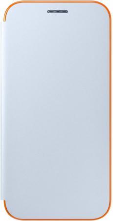 Чехол Samsung EF-FA720PLEGRU для Samsung Galaxy A7 2017 Neon Flip Cover синий чехол клип кейс samsung protective standing cover great для samsung galaxy note 8 темно синий [ef rn950cnegru]