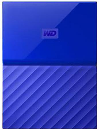 Внешний жесткий диск 2.5 USB3.0 3 Tb Western Digital My Passport WDBUAX0030BBL-EEUE синий жесткий диск western digital my passport 2 5 4tb usb 3 0 black wdbuax0040bbk eeue