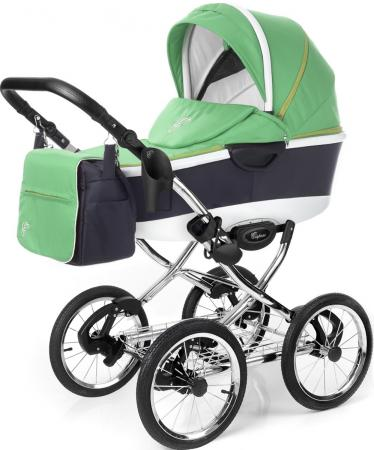 Коляска 3-в-1 Esspero Classic Alu (шасси chrome/green) коляска 2 в 1 esspero grand newborn lux шасси black royal silver