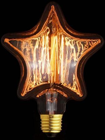 Купить Лампа накаливания E27 40W звезда прозрачная 2740-S, Loft IT