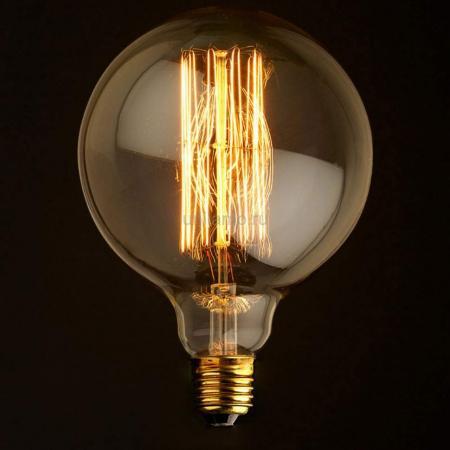 Лампа накаливания E27 60W шар прозрачный G12560 loft it ретро лампа накаливания 60w e27 g12560