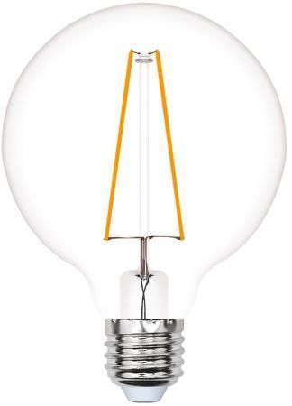 Лампа светодиодная (UL-00000850) E27 4W шар золотистый LED-G95-4W/GOLDEN/E27 GLV21GO лампа светодиодная филаментная ul 00001818 uniel e27 4w 2250k прозрачная led g95 4w golden e27 cw glv21go