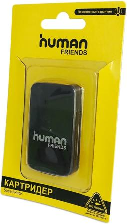 Картридер внешний CBR Human Friends Speed Rate Multi Black MicroSD cbr human friends samba black purple
