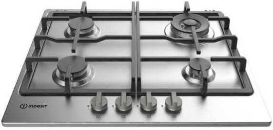 Варочная панель газовая Indesit THP 642 W/IX/I серебристый indesit thp 641 w ix i нержавеющая сталь
