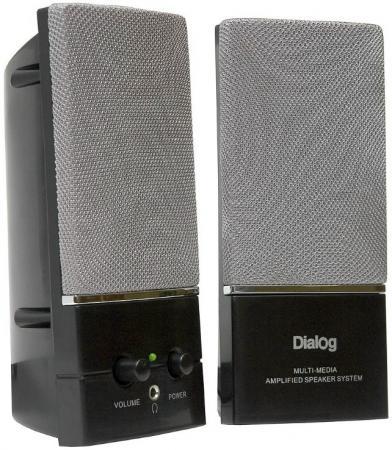 все цены на  Колонки Dialog Melody AM-11B 2x3Вт RMS пластик черный  онлайн