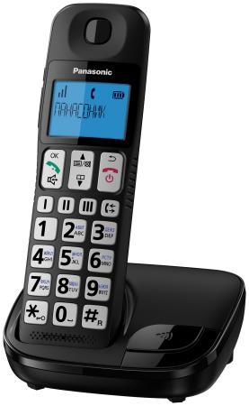 Фото Радиотелефон DECT Panasonic KX-TGE110RUB черный радиотелефон dect panasonic kx tgj320rub черный