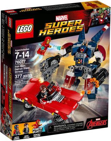 Конструктор LEGO Super Heroes: Железный человек: Стальной Детройт наносит удар 377 элементов 76077 конструктор lego marvel super heroes реактивный самолёт мстителей 76049