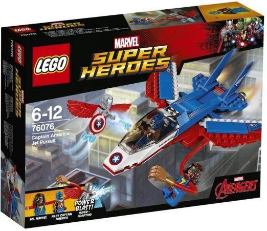 Конструктор LEGO Супергерои - Воздушная погоня Капитана Америки 160 элементов конструкторы lego lego воздушная погоня капитана америка 76076