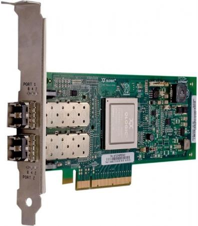 Адаптер Dell QLogic 2662 Dual Port 16GB Fibre Channel HBA Low Profile 406-10743 адаптер dell qlogic 2562 dual port 8gb fibre channel hba pci e x8 full profile kit 406 bbek