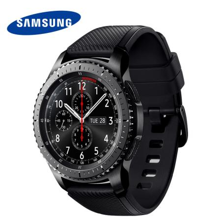 Смарт-часы Samsung Galaxy Gear S3 Frontier SM-R760 1.3 Super AMOLED темно-серый SM-R760NDAASER stainless steel watch band for samsung galaxy gear s2 classic sm r732