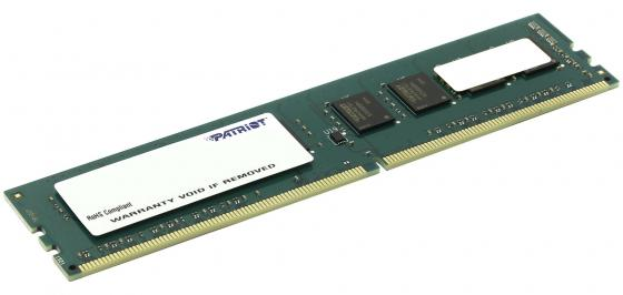 Оперативная память 4Gb PC4-19200 2400MHz DDR4 DIMM Patriot PSD44G240041 модуль памяти patriot memory ddr4 so dimm 2400mhz pc4 19200 cl17 4gb psd44g240041s