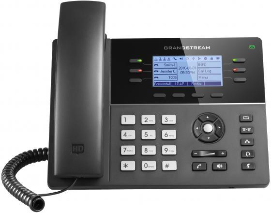 Телефон IP Grandstream GXP1760 6 линий 3 SIP-аккаунта 2x10/100Mbps LCD PoE BLF атс ip grandstream ucm6510 2xfxo 2xfxs 3xgblan poe