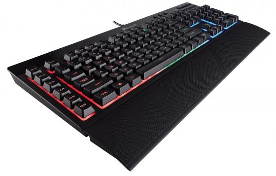 Клавиатура проводная Corsair Gaming K55 RGB USB черный CH-9206015-RU клавиатура corsair gaming k70 rapidfire cherry mx speed black usb [ch 9101024 ru]