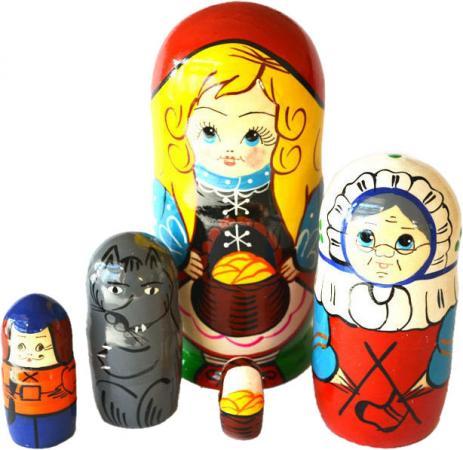Развивающая игрушка Бэмби матрешка «Красная шапочка» 7705 деревянные игрушки бэмби матрешка красная шапочка 7705