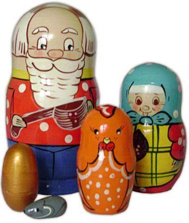 Развивающая игрушка Бэмби матрешка «Курочка Ряба» Р-45/743 russia made матрешка сказка 7м курочка ряба