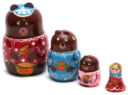 Развивающая игрушка Бэмби матрешка «3 медведя» Р-45/751