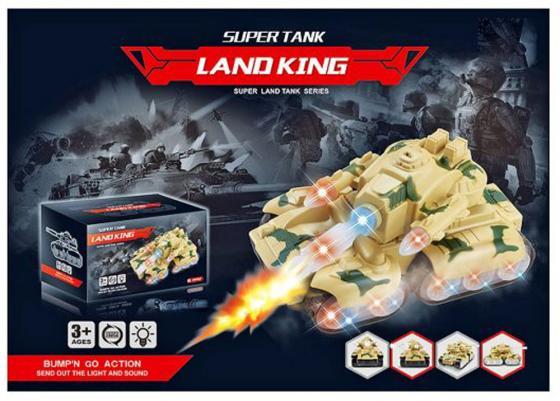 Танк Shantou Gepai Land King 23 см желтый свет, звук Y18896002 игрушка shantou gepai танк 369 32