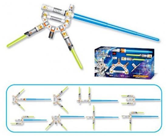 все цены на Меч Shantou Gepai Space Equipped - Меч синий зеленый свет, звук LM666-18 онлайн