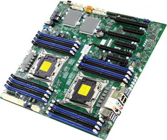 Материнская плата Supermicro MBD-X10DAC-O Socket 2011-3 C612 16xDDR4 3xPCI-E 16x 1xPCI-E 4x 2xPCI-E 8x 8xSATAIII EATX