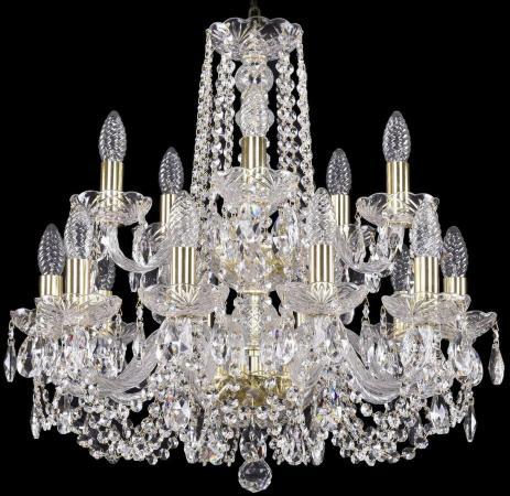 Подвесная люстра Bohemia Ivele 1402/10+5/195/2d/G bohemia ivele crystal подвесная люстра bohemia ivele 1402 8 195 g balls tube