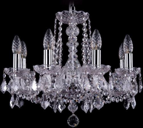 Подвесная люстра Bohemia Ivele 1402/8/160/Ni/Leafs bohemia ivele crystal подвесная люстра bohemia ivele 1402 8 160 ni balls