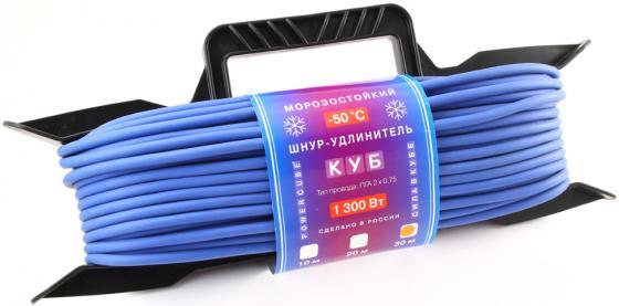 Удлинитель Power Cube PC-E1-F-30-R 1 розетка 30 м синий удлинитель power cube 30м pc bg4 k 30