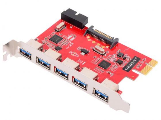 все цены на Контроллер PCI-E Orient VA-3U5219PE USB3.0 5ext