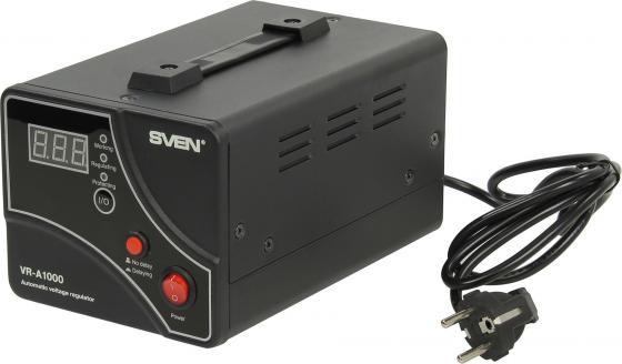 Стабилизатор напряжения Sven VR-A 1000 1 розетка черный