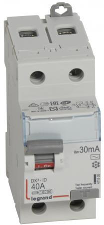Автоматический выключатель Legrand DX3 тип AC 2П 40А 411505  выключатель дифференциального тока legrand dx3 1п н c16а 30ma ac 411002