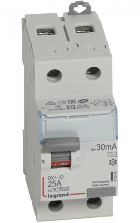 УЗО Legrand DX3 1П+Н C25А 30MA-AC 25A 411504 tip35c to 247 100v 25a