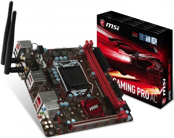 Материнская плата MSI H270IGAMINGPROAC Socket 1151 H270 2xDDR4 1xPCI-E 16x 4xSATAIII mini-ITX Retail