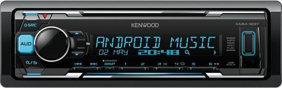 Автомагнитола Kenwood KMM-123Y USB MP3 FM 1DIN 4х50Вт черный автомагнитола kenwood kmm 203 usb mp3 fm 1din 4х50вт черный