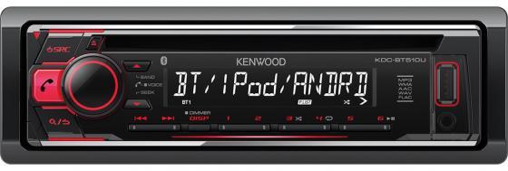 Автомагнитола Kenwood KDC-BT510U USB MP3 CD FM 1DIN 4х50Вт черный автомагнитола kenwood kmm 103gy usb mp3 fm 1din 4х50вт черный